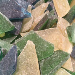 Cristales de playa dulces