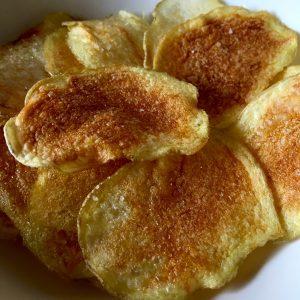 Patatas chip en el microondas